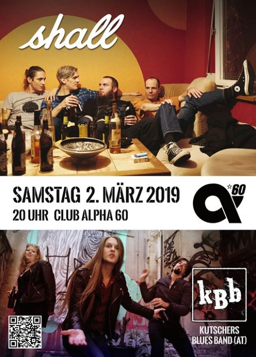 Flyer // Shall + KBb // 2. Mrz 2019 // Club Alpha 60 e.V. // 20 Uhr